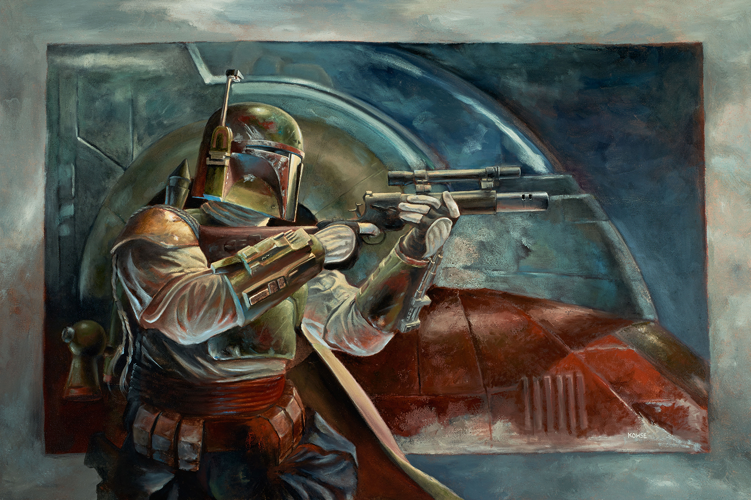 Boba Fett with Slave One by Lee Kohse